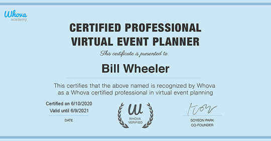 Certified Professional Virtual Event Planner
