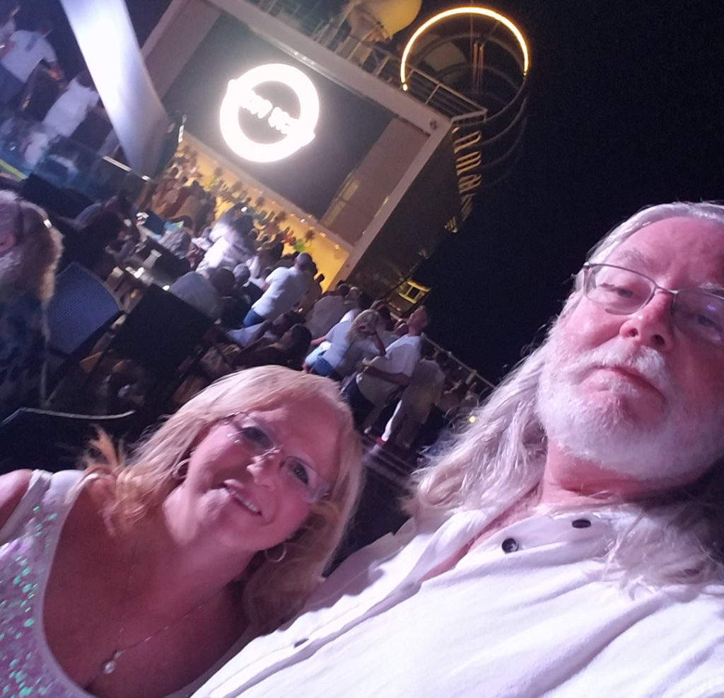 White night event aboard the inaugural cruise of the MSC Seaside