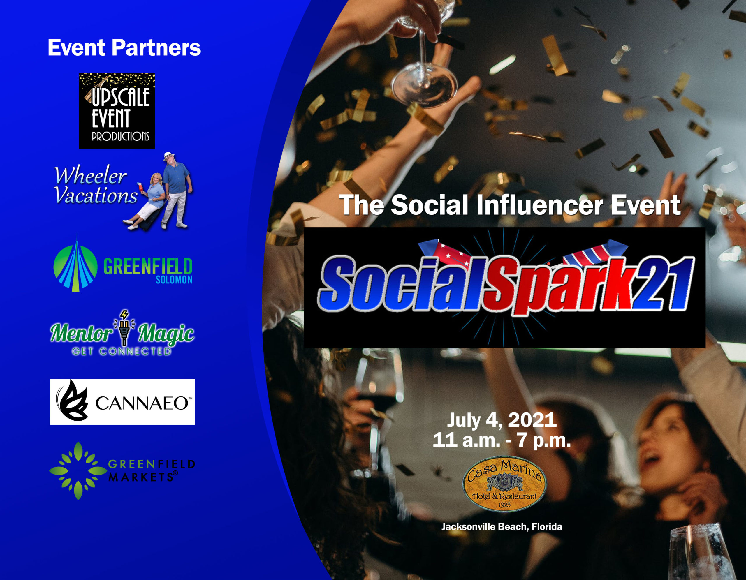 SocialSpark21 Title slide with Event Partners